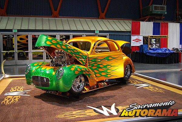 2009 Sweepstakes Award Street Machine/Pro Street/Competition, Nick's Pick for Best Use and Display of Flames - 1941 Willys Coupe - Michael Medeiros